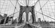 Autocolante decorativo  NYC: Brooklyn Bridge (monochrome) - Sascha Kilmer