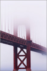 Quadro em plexi-alumínio  Golden Gate Bridge in the fog - Jean Brooks
