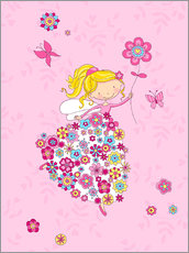 Autocolante decorativo Flower Princess