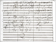 Autocolante decorativo  Score for the 3rd Movement of the 5th Symphony - Ludwig van Beethoven