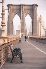 Quadro em plexi-alumínio  Bank on the Brooklyn Bridge - Amanda Hall