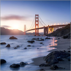 Autocolante decorativo  San Francisco Golden Gate Bridge - Jan Christopher Becke