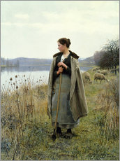 Autocolante decorativo  The Shepherdess of Rolleboise - Daniel Ridgway Knight