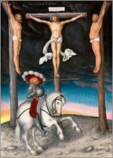 Quadro em plexi-alumínio  The Crucifixion with the converted Captain - Lucas Cranach d.Ä.