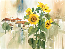 Autocolante decorativo  Sunflower greetings - Franz Heigl
