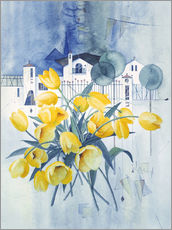 Autocolante decorativo  View with tulips - Franz Heigl