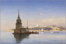 Autocolante decorativo  The Maiden's Tower (Maiden Tower) with Istanbul in the background - Carl Neumann