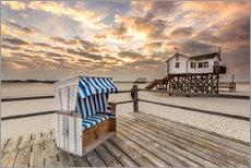 Autocolante decorativo  In the morning the North Sea beach of Sankt Peter Ording - Dennis Stracke