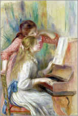 Autocolante decorativo  Young Girls at the Piano - Pierre-Auguste Renoir