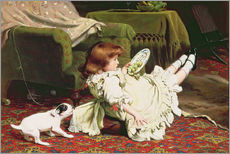 Autocolante decorativo  Time to Play - Charles Burton Barber