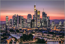 Autocolante decorativo  Skyline Frankfurt am Main Sundown - Frankfurt am Main Sehenswert