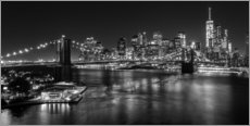 Autocolante decorativo  New York City by Night (monochrome) - Sascha Kilmer