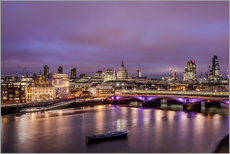 Autocolante decorativo  London Skyline Night - Sören Bartosch
