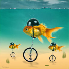 Autocolante decorativo  gold fish - Mark Ashkenazi