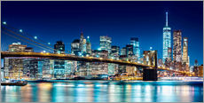 Autocolante decorativo  New York illuminated Skyline - Sascha Kilmer