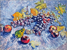 Póster Premium  Grapes, Lemons, Pears and Apples - Vincent van Gogh