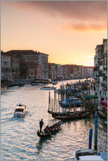 Autocolante decorativo Sunset over the Grand Canal in Venice, Italy
