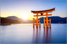 Quadro em plexi-alumínio  Japanese Torii at Itsukushima Shrine in Miyajima - Jan Christopher Becke