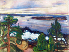 Autocolante decorativo  Train smoke - Edvard Munch