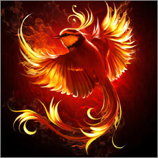 Autocolante decorativo Fire Bird