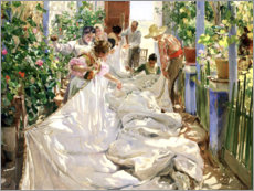 Autocolante decorativo  Sewing the Sail - Joaquín Sorolla y Bastida