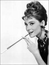 Autocolante decorativo  Audrey Hepburn, foto promocional do filme Breakfast at Tiffany's