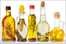 Quadro em plexi-alumínio  Homemade olive oil with spices and herbs