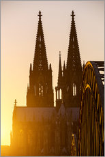 Autocolante decorativo  Sunset behind the Cologne Cathedral