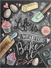 Autocolante decorativo  Life is what you bake it - Lily & Val