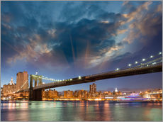 Autocolante decorativo  Brooklyn Bridge in stunning colors