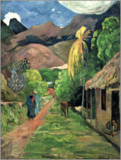 Autocolante decorativo  Road into the mountains - Paul Gauguin