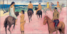 Quadro de madeira  Rider on Beach - Paul Gauguin
