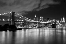 Autocolante decorativo  Brooklyn Bridge - Night scene