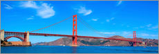 Autocolante decorativo  panoramic view of Golden Gate Bridge