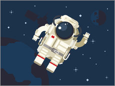 Autocolante decorativo  Hello, little astronaut - Kidz Collection