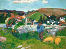 Autocolante decorativo  The swineherd - Paul Gauguin