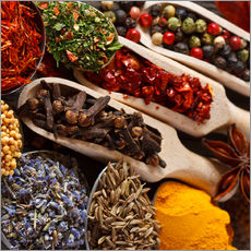 Autocolante decorativo  Colorful spices and herbs