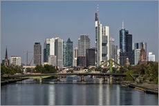 Autocolante decorativo  Skyline Frankfurt am Main Shining Morning - Frankfurt am Main Sehenswert