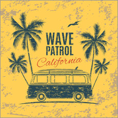 Autocolante decorativo  Wave Patrol California