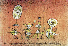 Autocolante decorativo  The cheerful side - Paul Klee