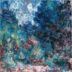 Quadro de madeira  The house of the artist - Claude Monet