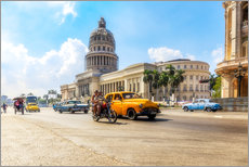 Autocolante decorativo  Havana Capitol with Oldtimer - Reemt Peters-Hein
