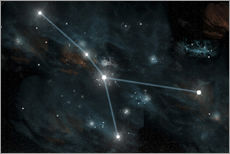 Autocolante decorativo  An artist's depiction of the constellation Cancer. - Marc Ward