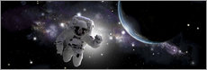 Autocolante decorativo  Astronaut floating in outer space - Marc Ward