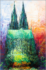 Autocolante decorativo  Cologne Cathedral Abstract - Renate Berghaus