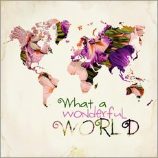 Autocolante decorativo  What a wonderful world (Map) - Mandy Reinmuth