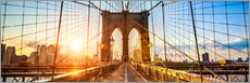 Quadro em plexi-alumínio  Brooklyn Bridge in New York City, USA - Jan Christopher Becke