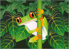 Autocolante decorativo  Hold on tight little frog! - Kidz Collection