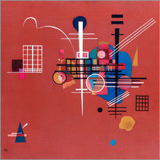Autocolante decorativo  dull red - Wassily Kandinsky