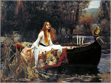 Autocolante decorativo  A Dama de Shalott - John William Waterhouse